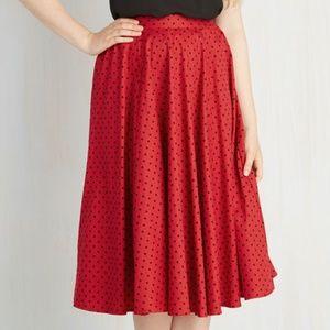 Ladybug Black & Red Polka Dot Swing Skirt